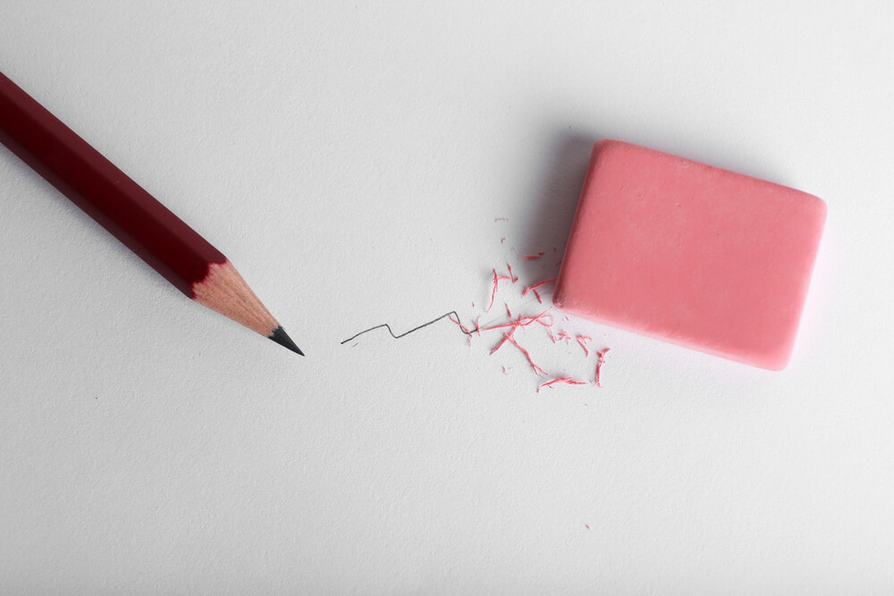 gumice za brisanje i olovka